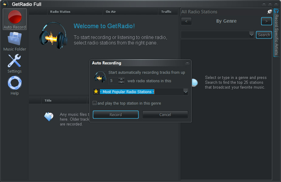GetRadio Full Screenshot